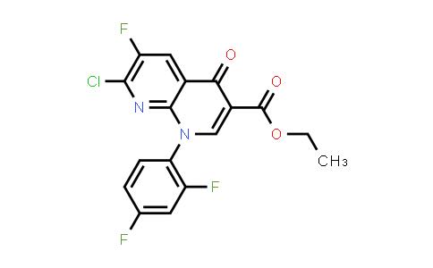100491-29-0   Ethyl 7-chloro-1-(2,4-difluorophenyl)-6-fluoro-4-oxo-1,4-dihydro-1,8-naphthyridine-3-carboxylate