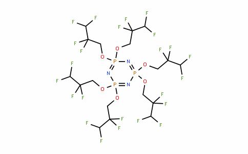 58943-98-9   Hexakis(2,2,3,3-tetrafluoropropoxy)phosphazene