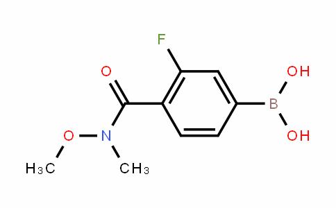 913835-59-3 | 3-Fluoro-4-(N-methoxy-N-methylcarbamoyl)benzeneboronic acid