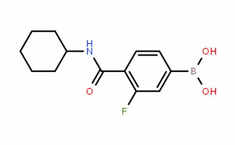 874289-11-9   4-(Cyclohexylcarbamoyl)-3-fluorobenzeneboronic acid