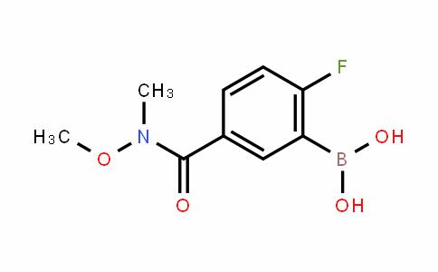874289-59-5 | 2-Fluoro-5-(N-methoxy-N-methylcarbamoyl)benzeneboronic acid