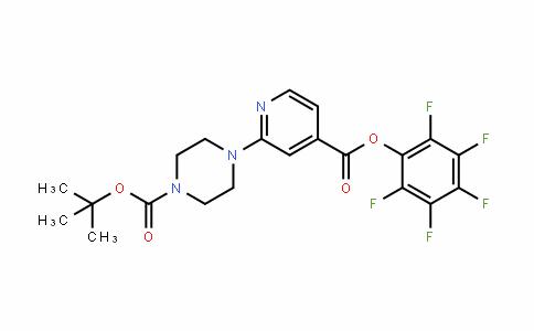 944450-81-1 | Pentafluorophenyl 2-[4-(tert-butoxycarbonyl)piperazin-1-yl]isonicotinate