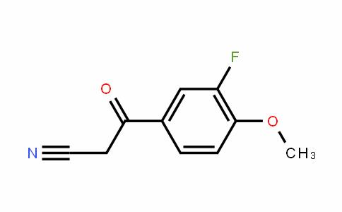 898786-96-4 | 3-Fluoro-4-methoxybenzoylacetonitrile