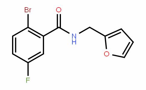 923722-86-5 | 2-Bromo-5-fluoro-N-(fur-2-ylmethyl)benzamide
