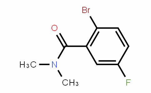 951884-08-5 | 2-Bromo-N,N-dimethyl-5-fluorobenzamide