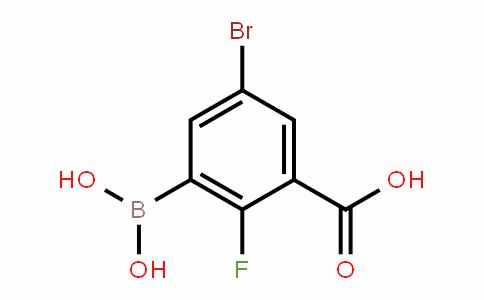 957120-63-7 | 5-Bromo-3-carboxy-2-fluorobenzeneboronic acid