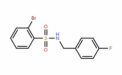 321705-40-2   2-Bromo-N-(4-fluorobenzyl)benzenesulphonamide