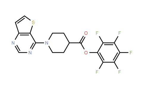 916766-92-2 | Pentafluorophenyl 1-(thieno[3,2-d]pyrimidin-4-yl)piperidine-4-carboxylate