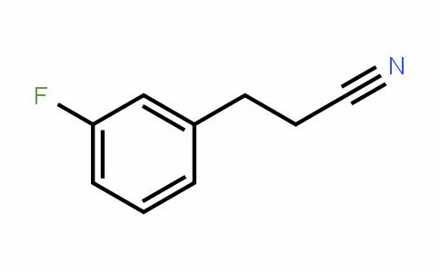 25468-87-5 | 3-(3-Fluorophenyl)propanenitrile