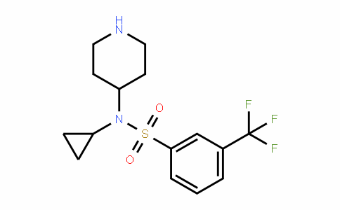 387350-79-0 | N-Cyclopropyl-N-(piperidin-4-yl)-3-(trifluoromethyl)benzenesulphonamide