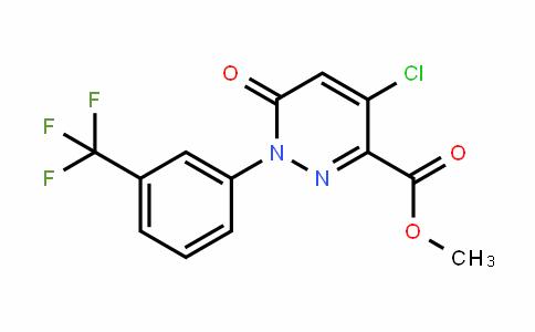 129109-18-8 | Methyl 4-chloro-1,6-dihydro-6-oxo-1-[3-(trifluoromethyl)phenyl]pyridazine-3-carboxylate