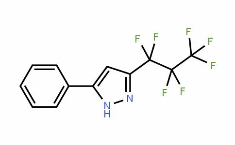 54864-78-7 | 3-(Heptafluoropropyl)-5-phenylpyrazole