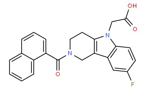 866460-33-5 | 2-(2-(1-naphthoyl)-8-fluoro-1,2,3,4-tetrahydropyrido[4,3-b]indol-5-yl)acetic acid