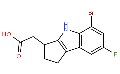 393509-23-4   2-(5-BroMo-7-fluoro-1,2,3,4-tetrahydrocyclopenta[b]indol-3-yl)acetic acid