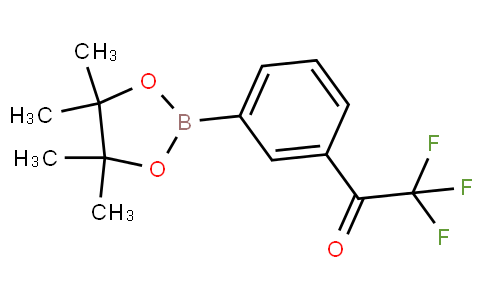631909-42-7 | 2,2,2-Trifluoro-1-[3-(4,4,5,5-tetramethyl-1,3,2- dioxaborolan-2-yl)phenyl]ethan-1-one