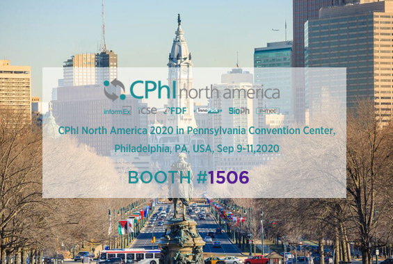 CPhI North America 2020 in Philadelphia USA Booth#1506