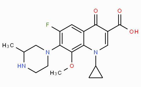 1-Cyclopropyl-6-fluoro-1,4-dihydro-8-methoxy-7-(3-methyl-1-piperazinyl)-4-oxo-3-quinolinecarboxylic acid