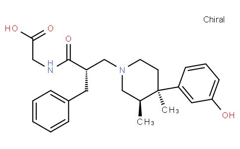 2-((S)-2-Benzyl-3-((3R,4R)-4-(3-hydroxyphenyl)-3,4-dimethylpiperidin-1-yl)propanamido)acetic acid