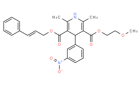 3-Cinnamyl 5-(2-methoxyethyl) 2,6-dimethyl-4-(3-nitrophenyl)-1,4-dihydropyridine-3,5-dicarboxylate