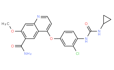 4-(3-Chloro-4-(3-cyclopropylureido)phenoxy)-7-methoxyquinoline-6-carboxamide