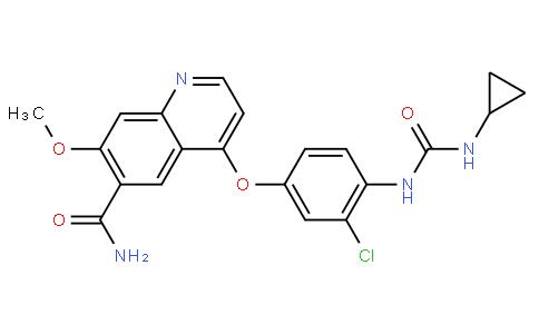 4-(3-Chloro-4-(3-cyclopropylureido)phenoxy)-7-methoxyquinoline-6-carboxamide