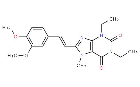 8-[(E)-2-(3,4-dimethoxyphenyl)ethenyl]-1,3-diethyl-7-methyl-purine-2,6 -dione