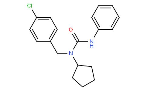 N-((4-Chlorophenyl)methyl)-N-cyclopentyl-N'-phenylurea