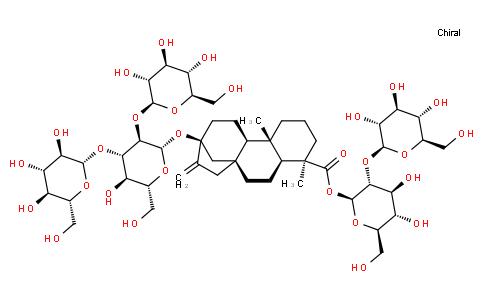 (4R)-13-[[2-O-(β-D-Glucopyranosyl)-3-O-(β-D-glucopyranosyl)-β-D-glucopyranosyl]oxy]kaur-16-en-18-oic acid 2-O-(β-D-glucopyranosyl)-β-D-glucopyranosyl ester
