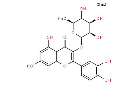 3-[(6-Deoxy-alpha-L-mannopyranosyl)oxy]-2-(3,4-dihydroxyphenyl)-5,7-dihydroxy-4H-benzopyran-4-one
