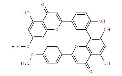 2-(4-Methoxyphenyl)-5,7-dihydroxy-8-[2-hydroxy-5-(4-oxo-5-hydroxy-7-methoxy-4H-1-benzopyran-2-yl)phenyl]-4H-1-benzopyran-4-one