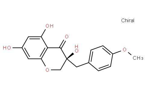 (S)-2,3-Dihydro-3,5,7-trihydroxy-3-[(4-methoxyphenyl)methyl]-4H-1-benzopyran-4-one