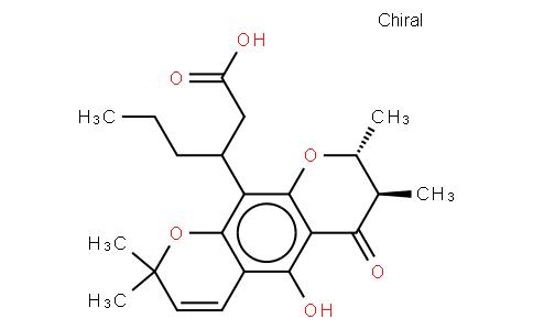 (7S,βR)-7,8-Dihydro-5-hydroxy-2,2,7β,8α-tetramethyl-6-oxo-β-propyl-2H,6H-benzo[1,2-b:5,4-b']dipyran-10-propanoic acid