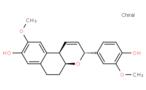 (3R,4aS,10bR)-4a,5,6,10b-Tetrahydro-3-(4-hydroxy-3-methoxyphenyl)-9-methoxy-3H-naphtho[2,1-b]pyran-8-ol