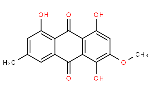 1,4,5-Trihydroxy-2-methoxy-7-methyl-9,10-anthracenedione