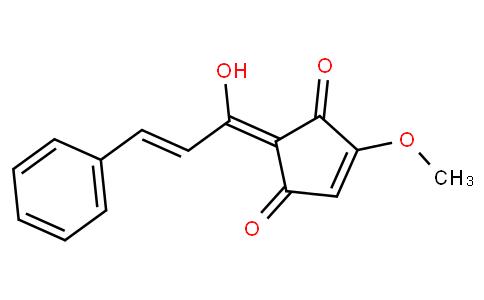 2-[(1Z,2E)-1-Hydroxy-3-phenyl-2-propenylidene]-4-methoxy-4-cyclopentene-1,3-dione