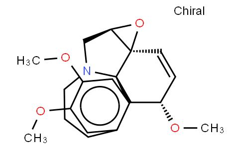 C-Homoerythrinan, 1,2-didehydro-6,7-epoxy-3,15,16-trimethoxy-, (3beta, 6xi)-