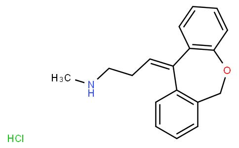 11[6H]-[3-(METHYLAMINO)PROPYLIDENE]DIBENZ[B,E]OXEPINE HYDROCHLORIDE