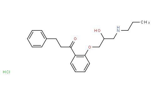 1-[2-[2-hydroxy-3-(propylamino)propoxy]phenyl]-3-phenylpropan-1-one hydrochloride