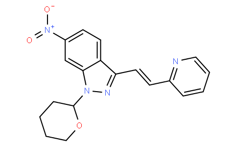 (E)-6-Nitro-3-[2-(pyridin-2-yl)ethenyl]-1-(tetrahydro-2H-pyran- 2-yl)-1H-indazole