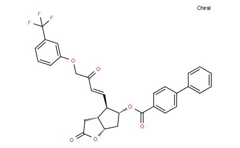 [1,1'-Biphenyl]-4-carboxylic acid (3aR,4R,5R,6aS)-hexahydro-2-oxo-4-[(1E)-3-oxo-4-[3-(trifluoromethyl)phenoxy]-1-buten-1-yl]-2H-cyclopenta[b]furan-5-yl ester