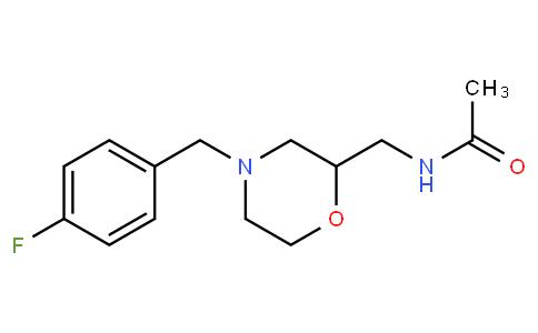 N-{[4-(4-fluorobenzyl)morpholin-2-yl]methyl}acetamide