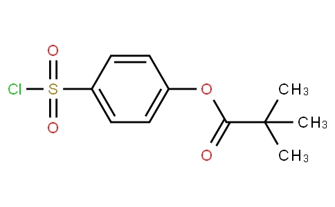Propanoic acid, 2,2-dimethyl-, 4-(chlorosulfonyl)phenyl ester