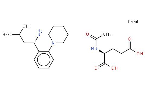 (S)-3-Methyl-1-(2-(1-piperidinyl)phenyl)butylamine, N-acetyl-glutarate