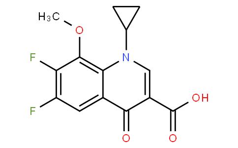 1-Cyclopropyl-6,7-difluoro-1,4-dihydro-8-methoxy-4-oxo-3-quinolinecarboxylic acid