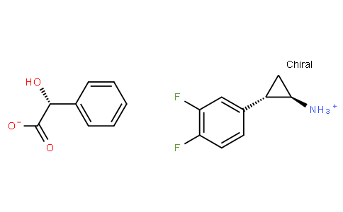 (1R,2S)-2-(3,4-Difluorophenyl)cyclopropanaminium (2R)-hydroxy(phenyl)ethanoate