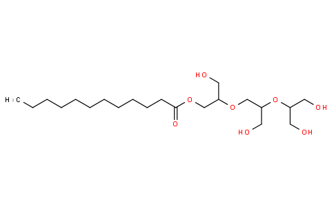 Dodecanoic acid monoester with triglycerol