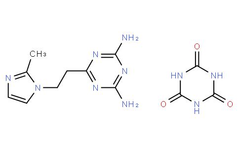 1,3,5-Triazine-2,4,6(1H,3H,5H)-trione, compd. with 6-2-(2-methyl-1H-imidazol-1-yl)ethyl-1,3,5-triazine-2,4-diamine (1:1)