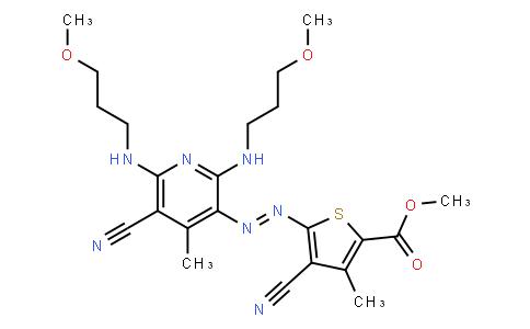M10214 | methyl 4-cyano-5-[[5-cyano-2,6-bis[(3-methoxypropyl)amino]-4-methyl-3-pyridyl]azo]-3-methyl-2-thenoate