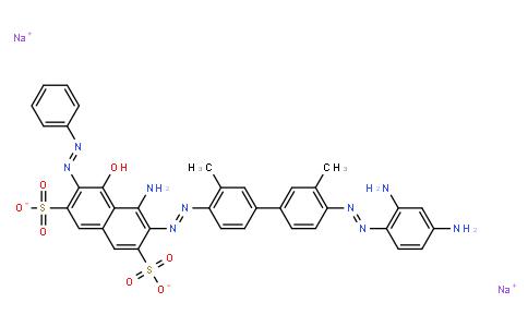 M10361   disodium 4-amino-3-[[4'-[(2,4-diaminophenyl)azo]-3,3'-dimethyl[1,1'-biphenyl]-4-yl]azo]-5-hydroxy-6-(phenylazo)naphthalene-2,7-disulphonate