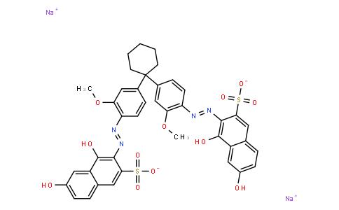 M10379 | disodium 3,3'-[cyclohexylidenebis[(2-methoxy-4,1-phenylene)azo]]bis(4,6-dihydroxynaphthalene-2-sulphonate)